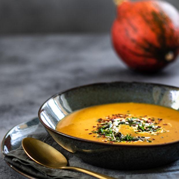 Dýňová polévka s pomerančem a zázvorem