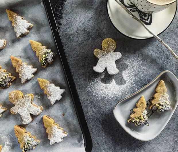 Norské vánoční cukroví s pistáciemi