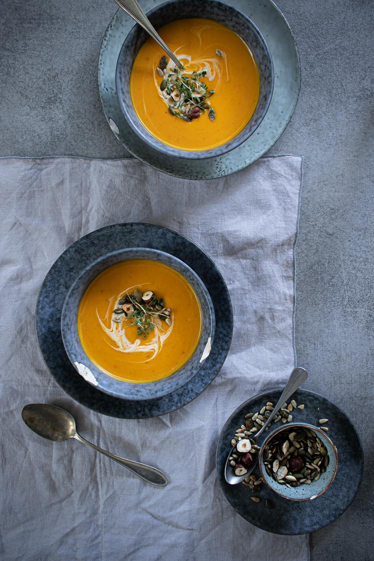 Dýňová polévka s kokosovým mlékem