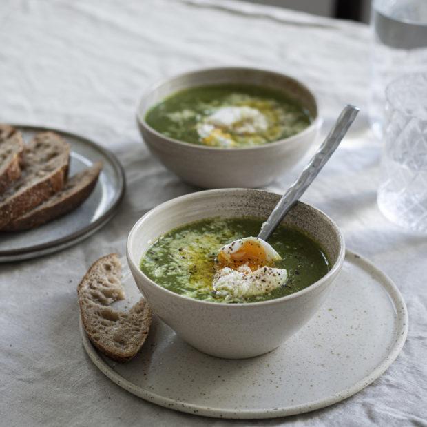 Luxusní zelená polévka se špenátem
